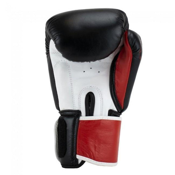 Super Pro Combat Gear Warrior SE Leder Boxhandschuhe black/red/white 12oz , SPBG110-90401-12 - Fighttrade