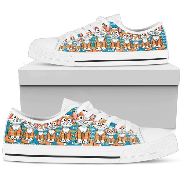 Cute Cat Women's Low Top Shoe