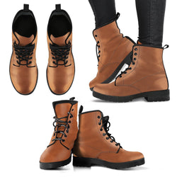 Fashion Women's Leather Boots Yellow Brown Color