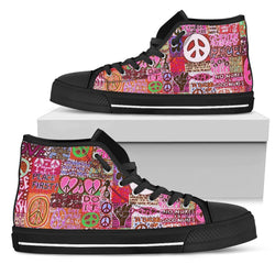 Peace And Love Women's High Tops