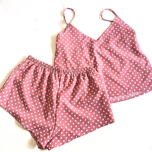 Polka dot pajamas set