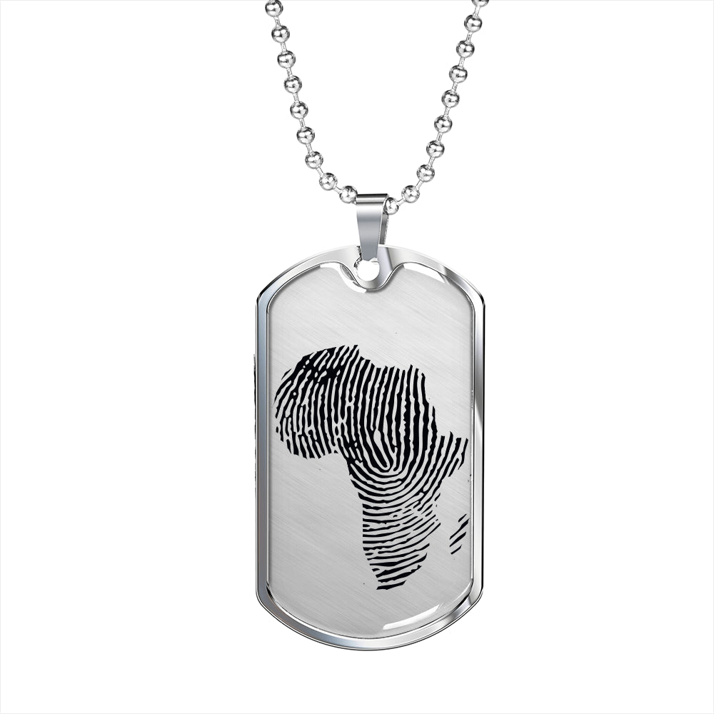 African DNA Dogtag Necklace