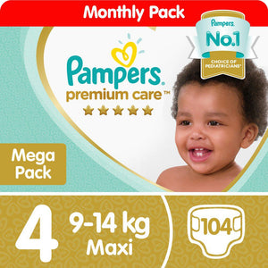 Pampers Premium Care - Size 4 Mega Pack - 104 Nappies