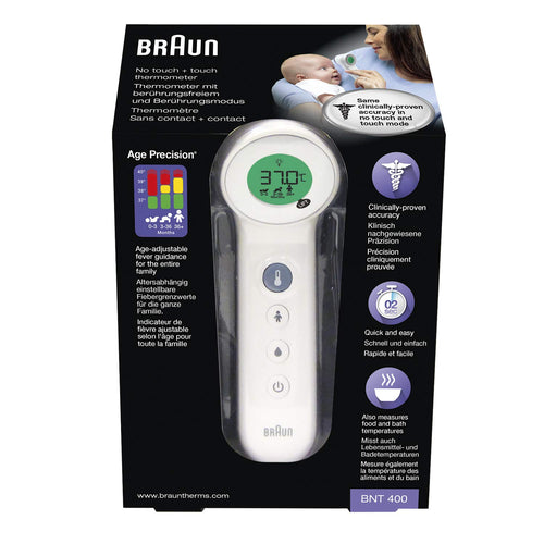 BRAUN BNT 400 NO TOUCH + FOREHEAD THERMOMETER