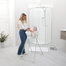 Load image into Gallery viewer, Shnuggle Baby Bath With Plug,Foam Backrest & Bath Stand