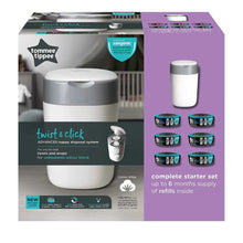 Load image into Gallery viewer, Tommee Tippee Twist and  Click Advanced Nappy Disposal SANGENIC TEC PACK