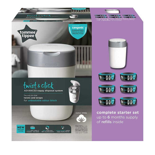 Tommee Tippee Twist and  Click Advanced Nappy Disposal SANGENIC TEC PACK