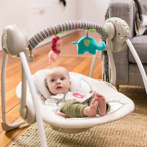 Ingenuity Soothe 'n Delight Portable Swing™ - Cozy Kingdom™
