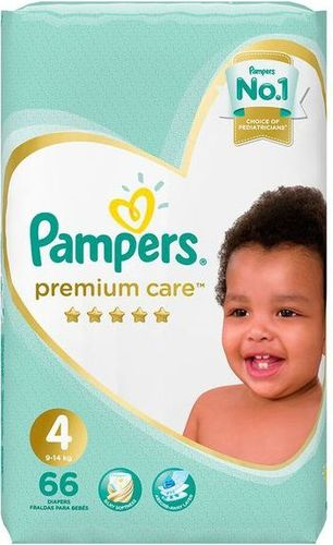 Pampers Premium Care - Size 4 Jumbo Pack - 66 Nappies