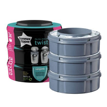 Load image into Gallery viewer, Tommee Tippee Twist & Click Nappy Bin Refil x 3