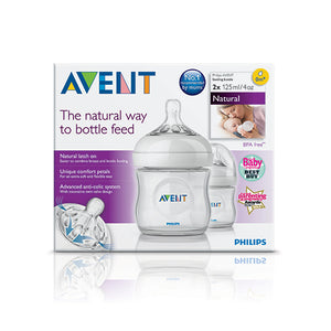 PHILIPS AVENT NATURAL NEWBORN TWIN PACK 125ML