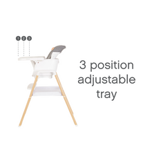 Load image into Gallery viewer, TUTTI BAMBINI Nova Evolutionary Highchair - White/OaK