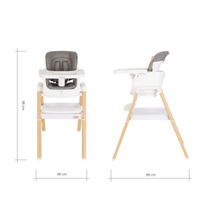 TUTTI BAMBINI Nova Evolutionary Highchair - White/OaK