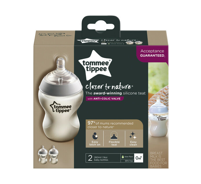 TOMMEE TIPPEE 340ML BOTTLE TWIN PACK 3M+