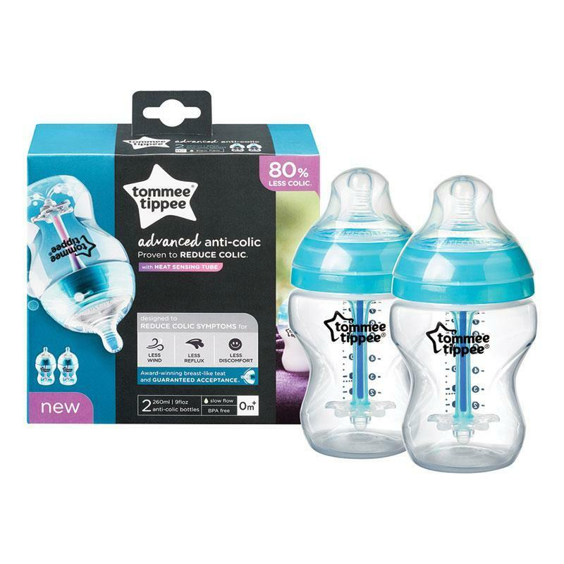 TOMMEE TIPPEE ADVANCED COMFORT BOTTLE 2PK  260ML