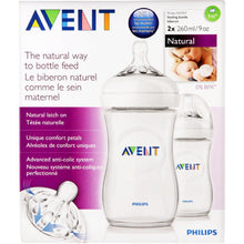 Load image into Gallery viewer, PHILIPS AVENT NATURAL BOTTLE 260ML TWIN PACK