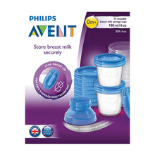 Load image into Gallery viewer, AVENT VIA BREAST MILK STORAGE CUPS 10