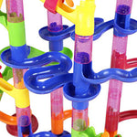 DIY Construction Marble Race Pipeline - Educational Toy for Children