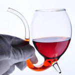 Devil Wine Glass with Built in Straw - Wino Sippers