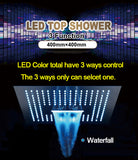 Touch Control LED Smart Black Shower Head