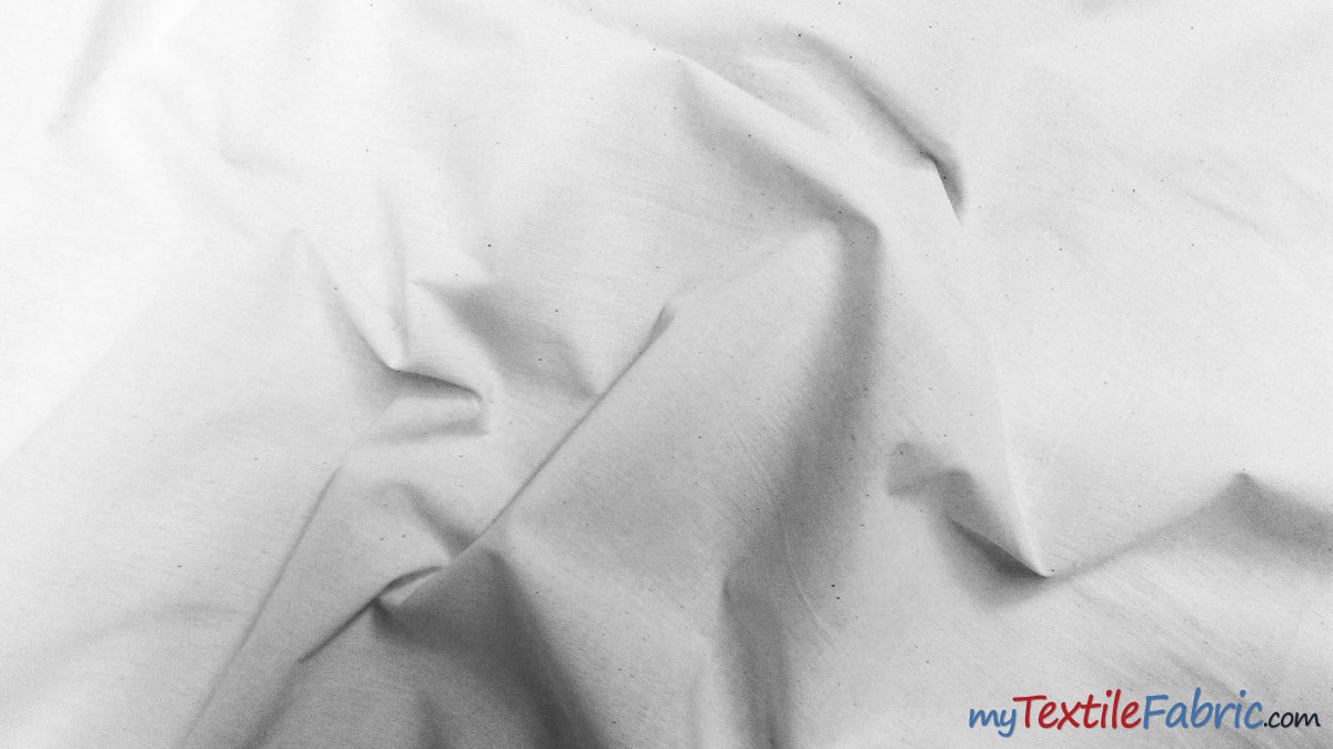 "100% Cotton Muslin | Bleached White Muslin |  60"" Wide 