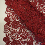 "Load image into Gallery viewer, Guipure Bridal Lace Fabric | Heavy Double Scalloped Lace | 49"" Wide 