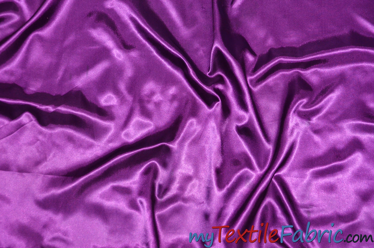 Stretch Charmeuse Satin Fabric | Soft Silky Satin Fabric | 96% Polyester 4% Spandex | Multiple Colors | Wholesale Bolt |