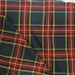 "Load image into Gallery viewer, Red and Grey Tartan Fabric | Red and Grey Plaid Checker | 60"" Wide 