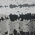 "Load image into Gallery viewer, White Bridal Lace Fabric | E15170 | White Embroidery Lace Fabric | 50"" Wide 