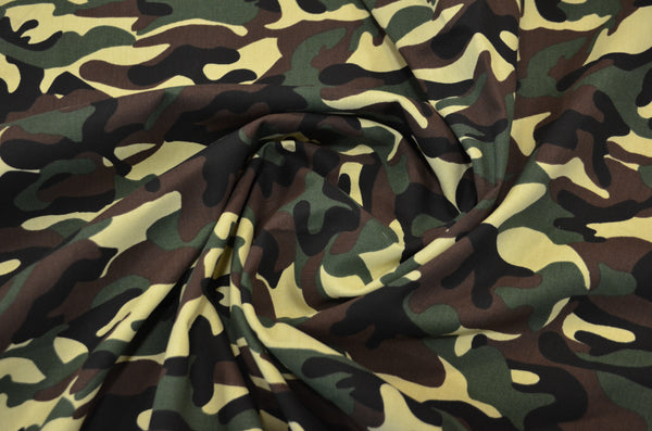 6 oz Canvas Army Camouflage