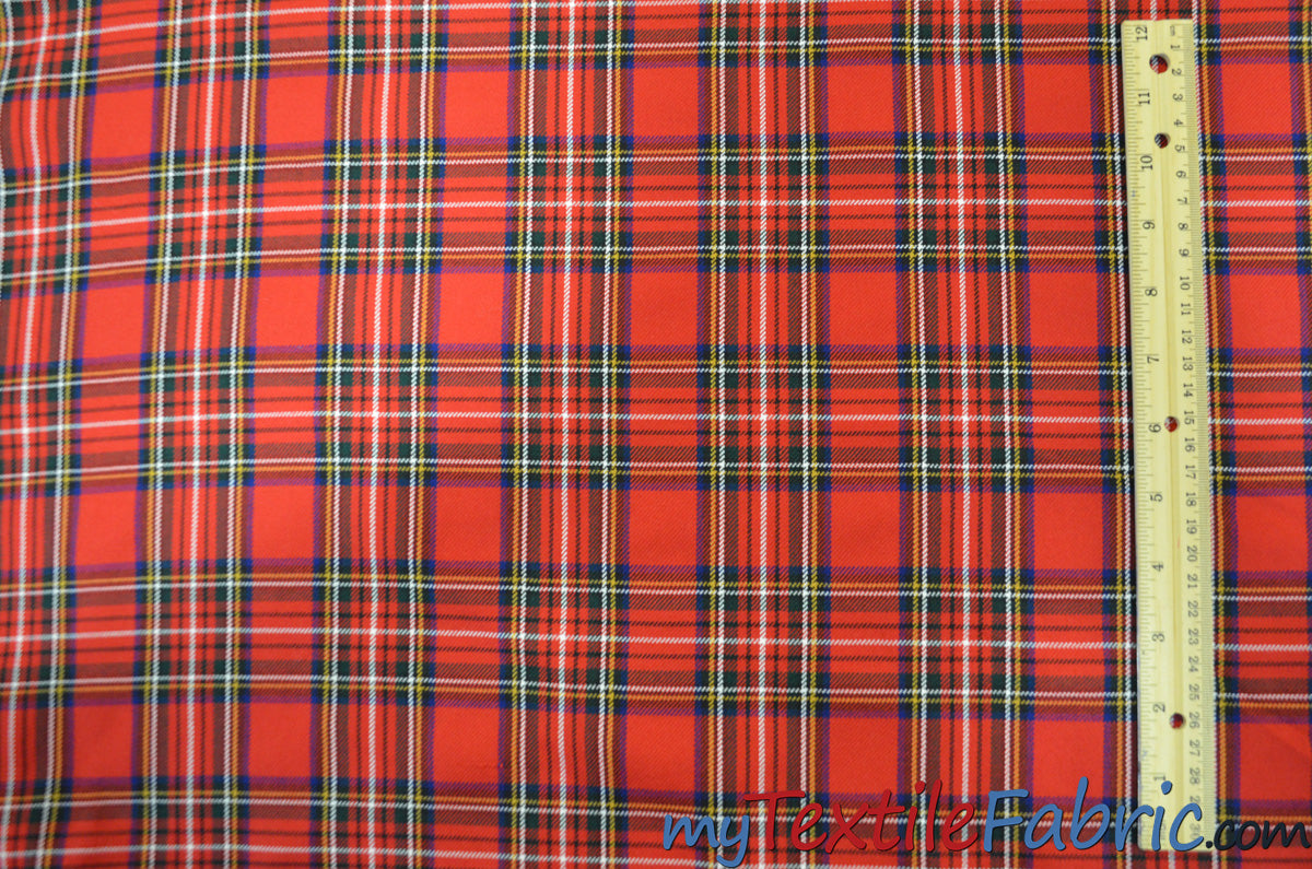 "Christmas Red Kilt Fabric | 60"" Wide 