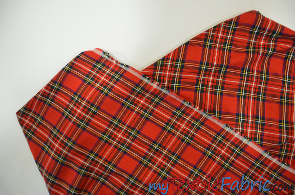 Christmas Red Kilt Fabric