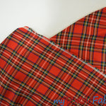 "Load image into Gallery viewer, Christmas Red Kilt Fabric | 60"" Wide 