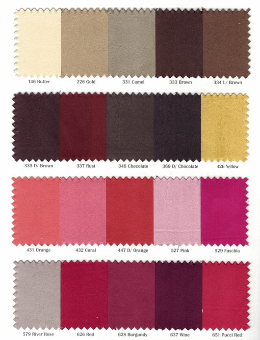 Suede Fabric | Microsuede | 40 Colors | 60