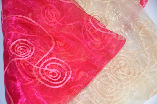 Donatello Organza Embroidery Fabric | Embroidered Floral Sheer | 54