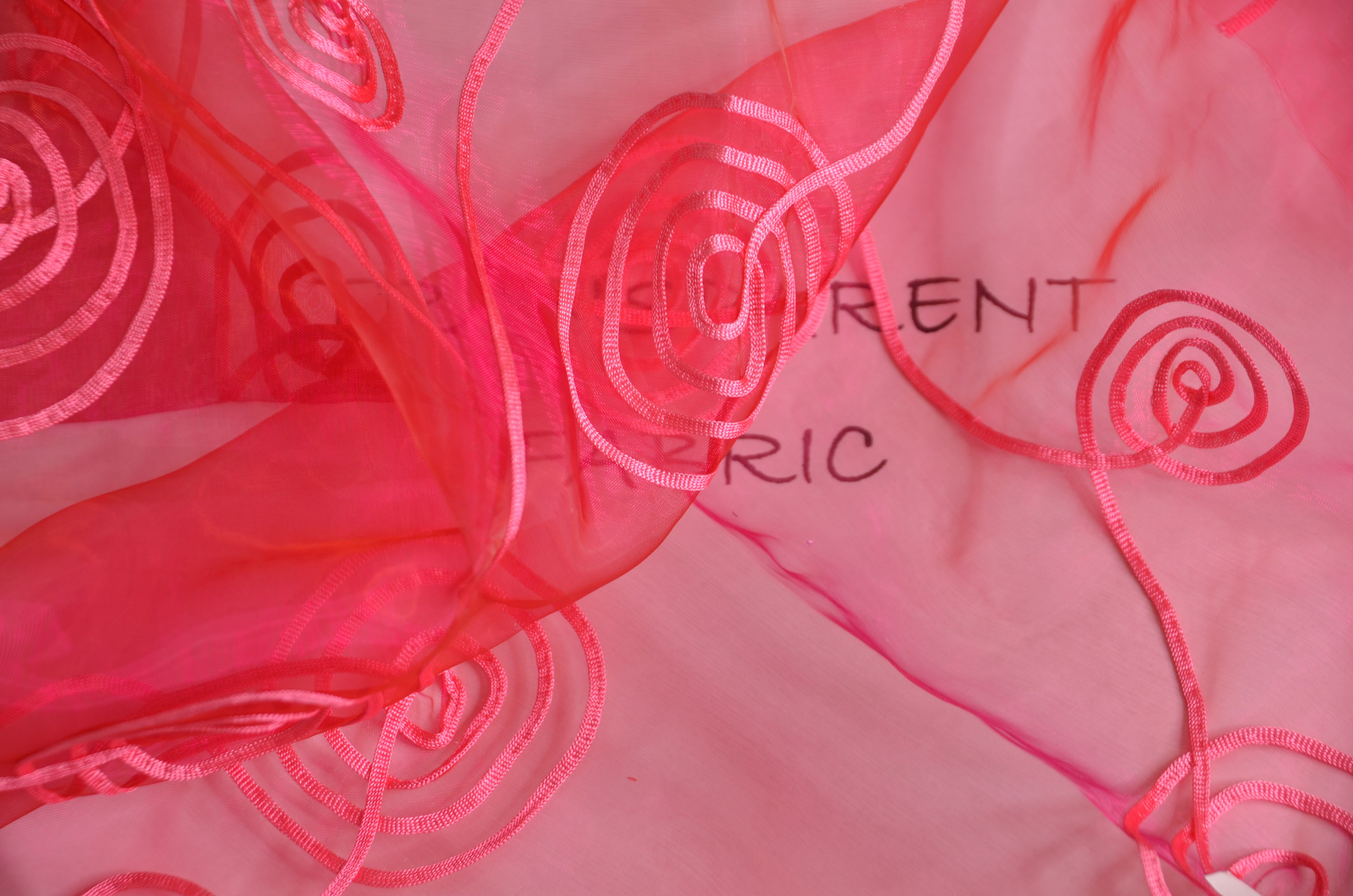 "Donatello Organza Embroidery Fabric | Embroidered Floral Sheer | 54"" Wide 
