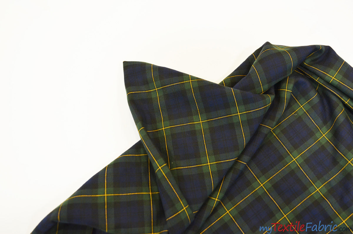 Green Blue Kilt Fabric