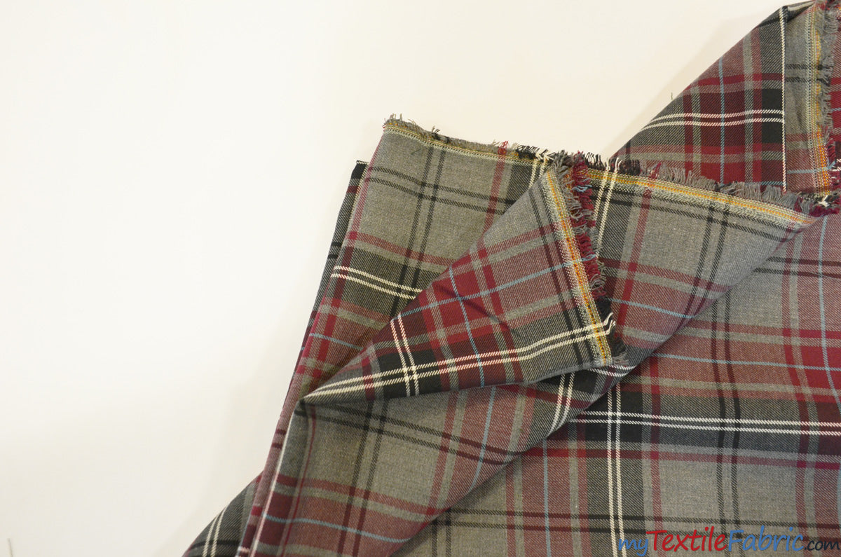 Grey Kilt Fabric