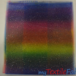 "Load image into Gallery viewer, Rainbow Tulle Glitter Fabric | LGBT Fabric | 60"" Wide 