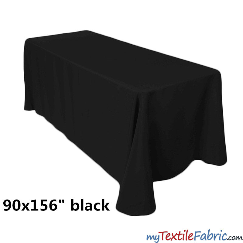 "90"" x 156"" Polyester 8ft Tablecloth 