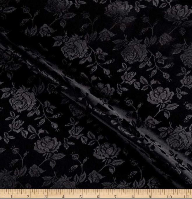 "Satin Jacquard | Satin Flower Brocade | 60"" Wide 