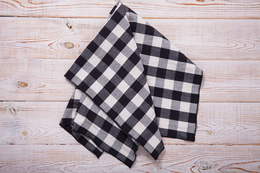 Gingham Checkered Fabric | Polyester Picnic Checkers | 1