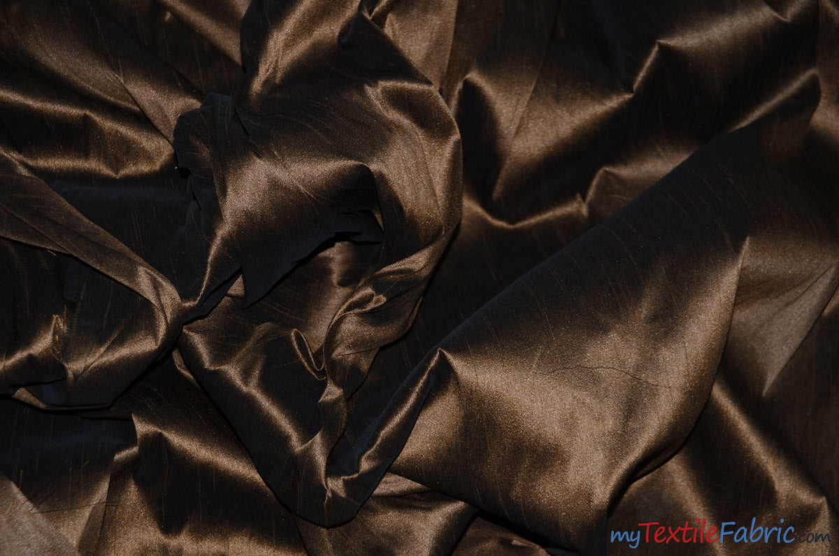"Polyester Silk Fabric | Faux Silk | Polyester Dupioni Fabric | Continuous Yards | 54"" Wide 