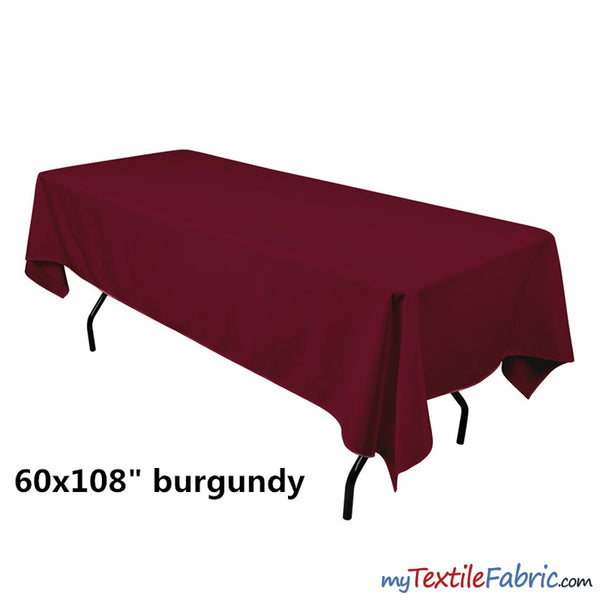 "60"" x 108"" Banquet Polyester Tablecloth"