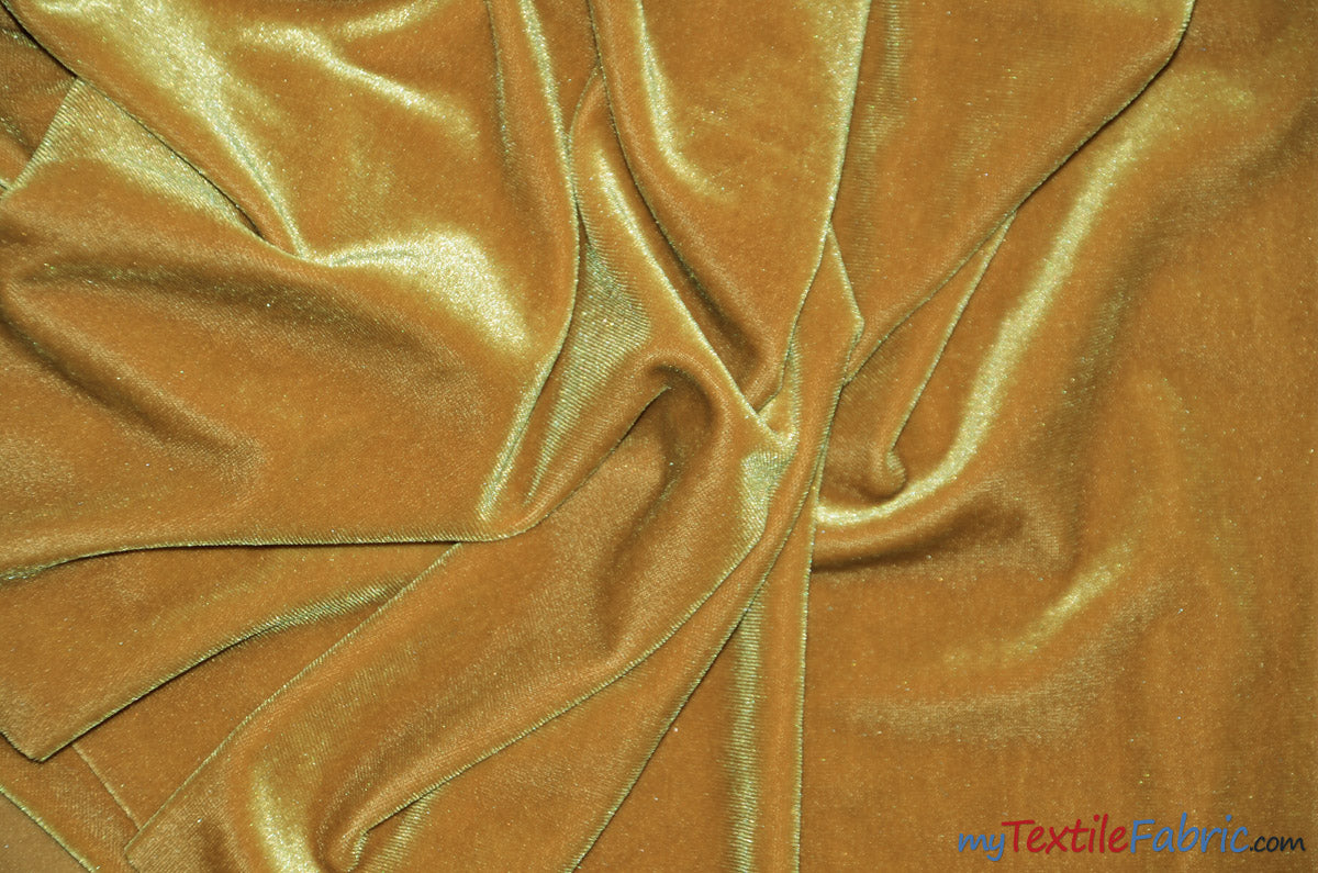 "Soft and Plush Stretch Velvet Fabric | Stretch Velvet Spandex | 58"" Wide 