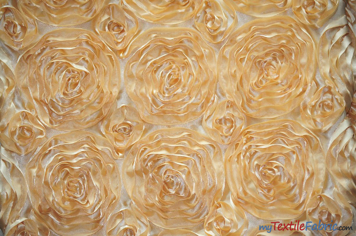 "Rosette Satin Fabric | Wedding Satin Fabric | 54"" Wide 