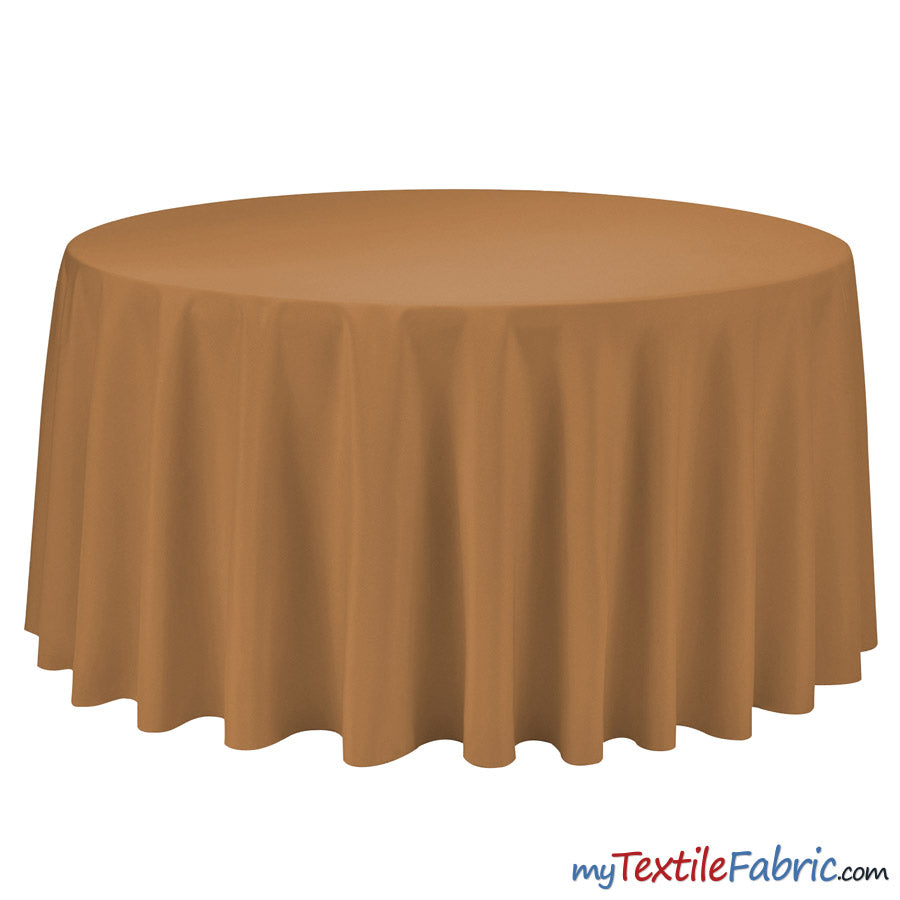 "108"" Round Polyester Seamless Tablecloth 