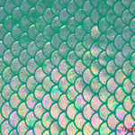 "Load image into Gallery viewer, 4 Way Stretch Dancewear Fabric | Paradise Mermaid Hologram Spandex | 58/60"" Wide 