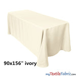 "Load image into Gallery viewer, 90"" x 156"" Polyester 8ft Tablecloth 