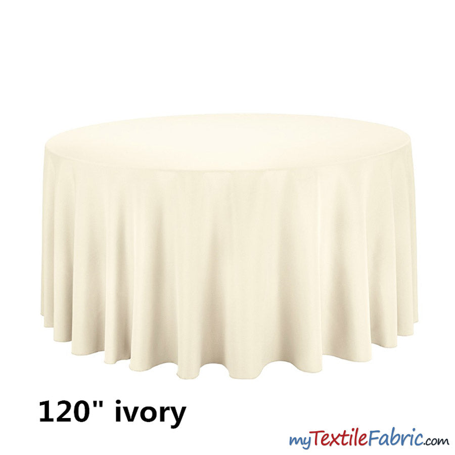 "120"" Round Polyester Seamless Tablecloth 